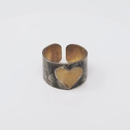 Heart Soldered Brass Ring