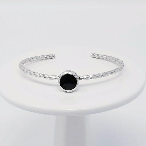 Ice Resin Black Cuff Bracelet