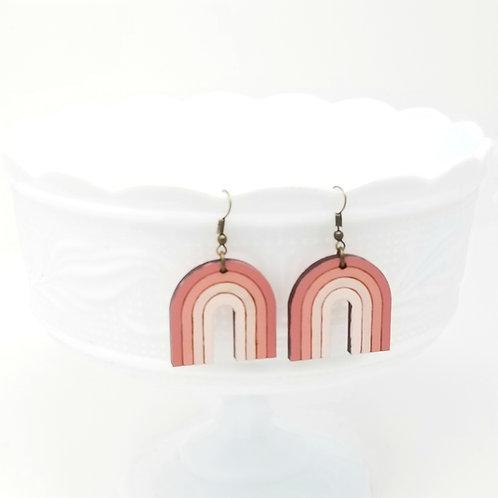 Rainbow Wood Earrings