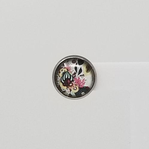 Mystic Flowers 12mm Round Stud Earrings