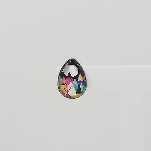 Rainbow Mountains 10x14mm Tear Drop Stud Earrings