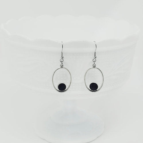 Step Out Oval Ice Resin Earrings