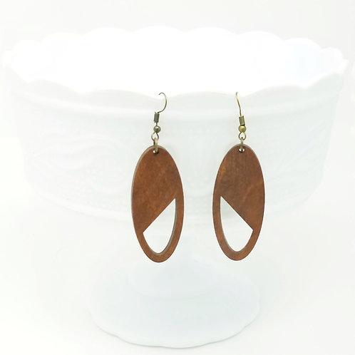 Brown Wood Earrings