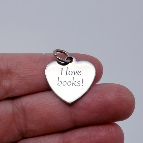 I Love Books Charm