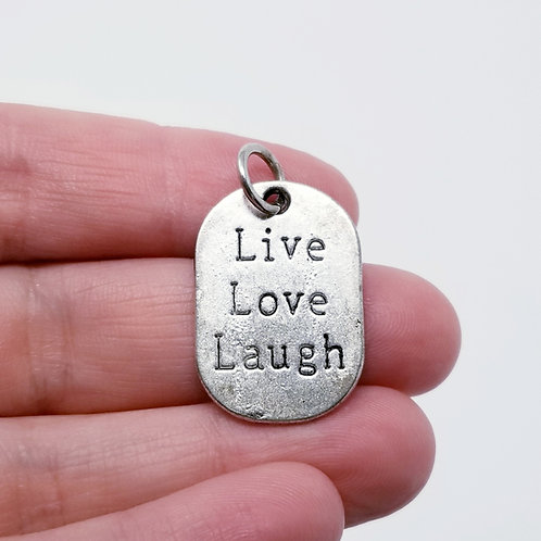 Live Love Laugh Silver Charm