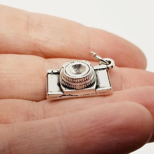Fancy Camera Silver Charm