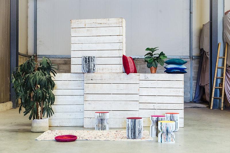 résilientes emmaus upcycling design insertion création récupération slowdesign social refabrication lampe table collection