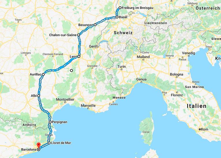 Route Deutschland bis Spanien.jpg