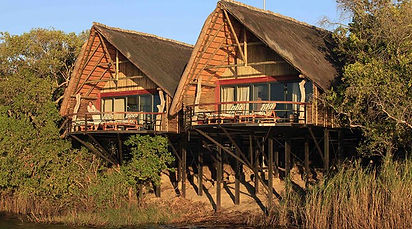 Chobe-water-villas-are-built-on-stilts-o
