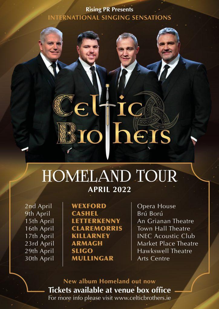 Celtic Brothers Homeland concert tour 2022