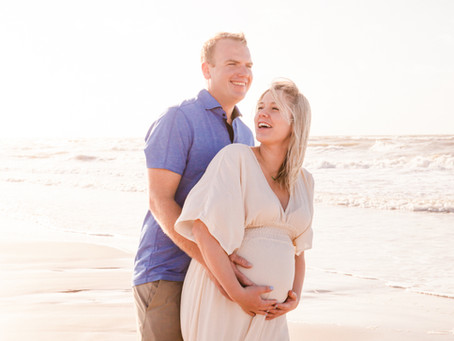 Amanda & Vince Beachside Maternity Session