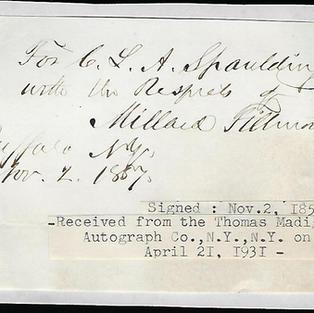 13th President Millard Fillmore
