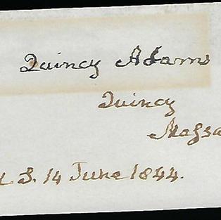 6th President John Quincy Adams