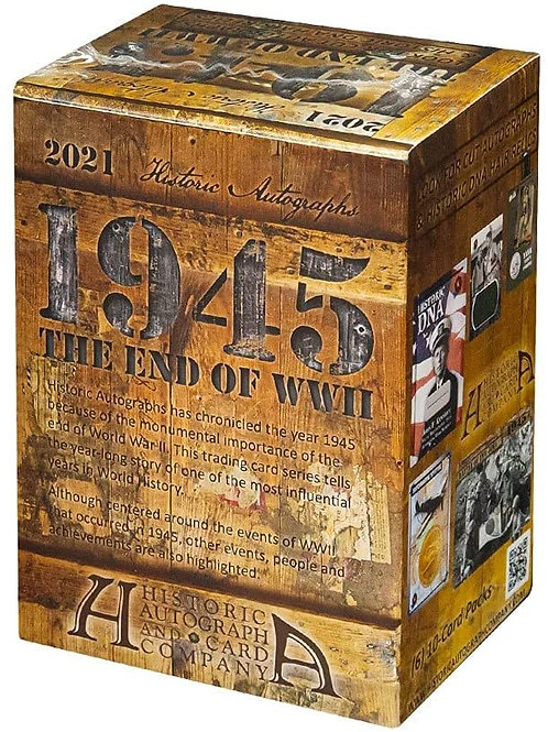 2021 Historic Autographs 1945: End of the War Blaster/Retail box