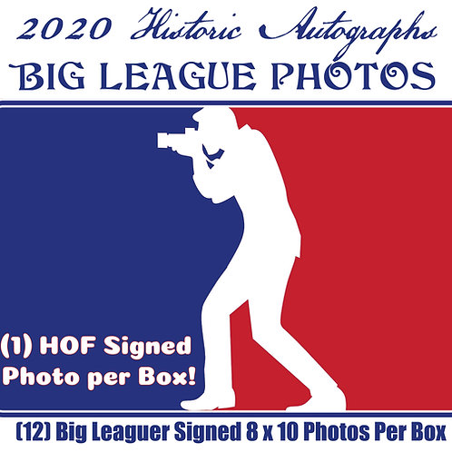 2020 Historic Autographs - BIG LEAGUE PHOTO