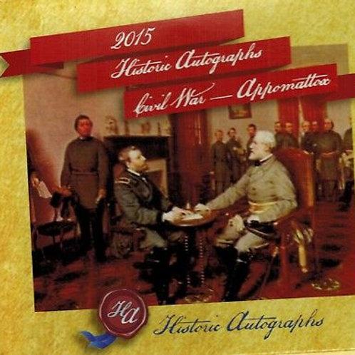 2015 HA Civil War Appomattox - 50 Card Factory Set