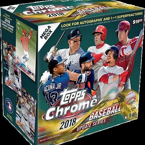 2018 Topps Chrome Update Mega Box Baseball - Retail