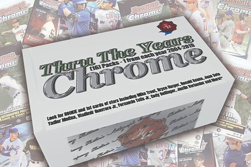 Thru The Years Chrome LIMITED RELEASE - ONLY 54 BOXES AVAILABLE