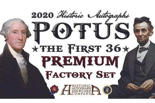 2020 Historic Autographs - POTUS The First 36 - PREMIUM SET
