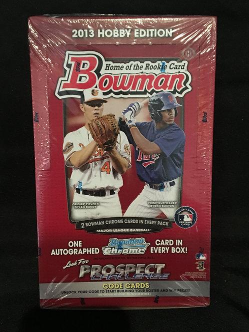 2013 Bowman Hobby Box