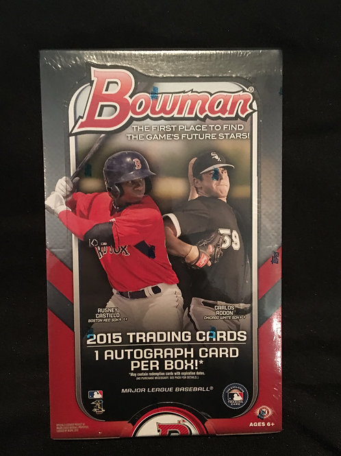 2015 Bowman Hobby Box