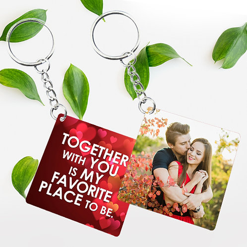 Photo Printed Keyrings - Square ( Double Side )