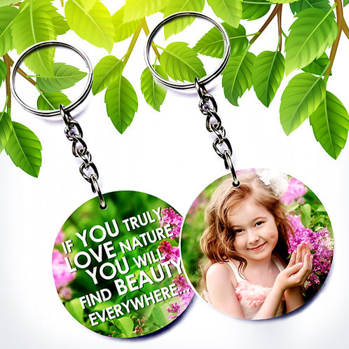 Photo Printed Keyrings - Round ( Double Side )