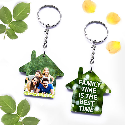 Photo Printed Keyrings - Home ( Double Side )