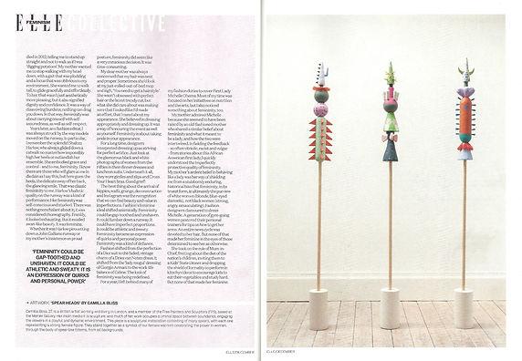 Spear Heads Elle Magazine