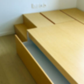 Super Single Storage Bed with Pull Out B