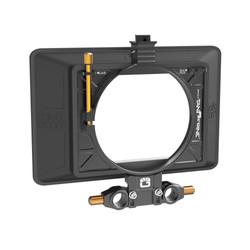 Bright Tangerine Misfit Atom Matte box 15mm LWS w Carbon Fibre Top Flag & Black Hole rubber donut