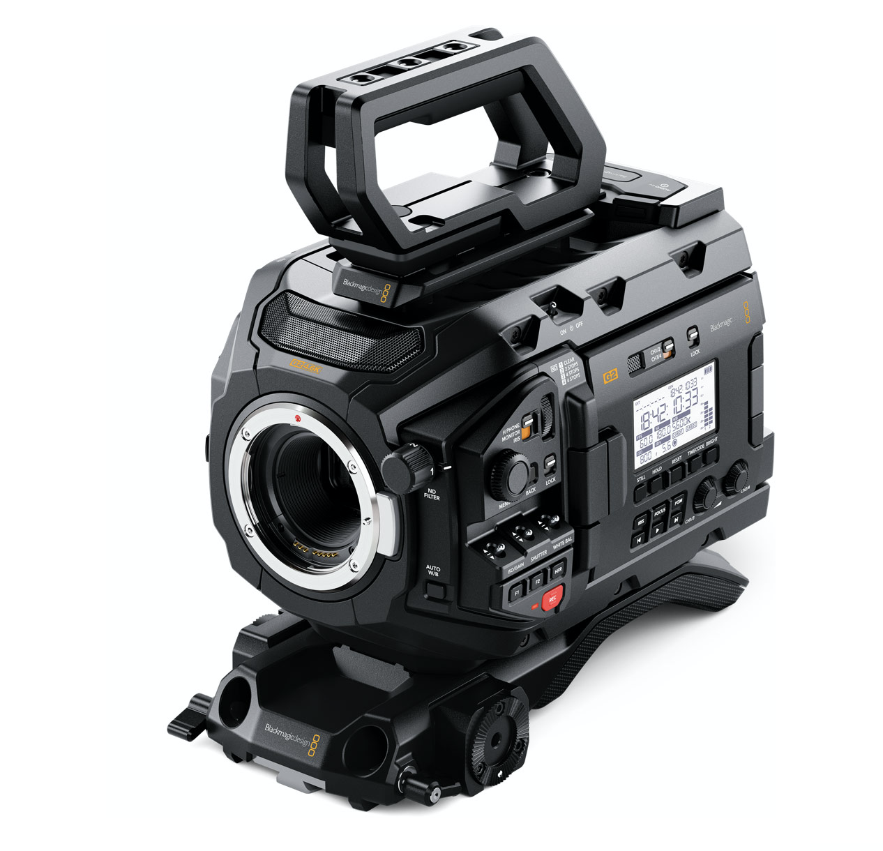 Blackmagic URSA Mini Pro with shoulder kit (EF mount)