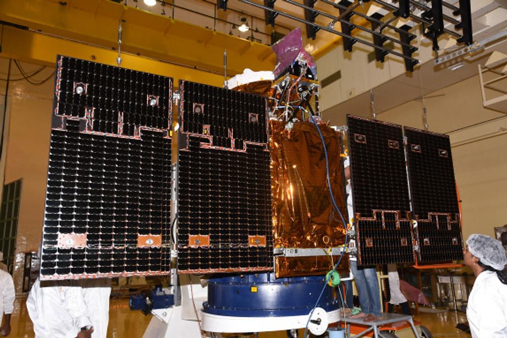 2cartosat-2seriessatelliteundergoingsolarpaneldeploymenttest