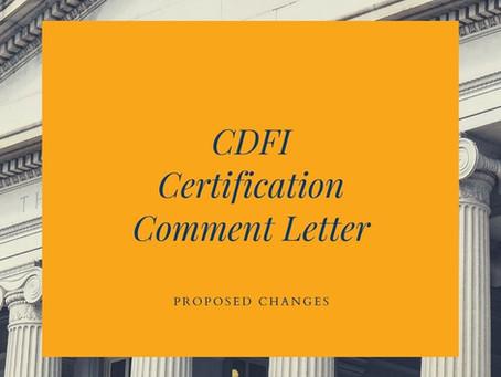 CDFI Certification Public Comment
