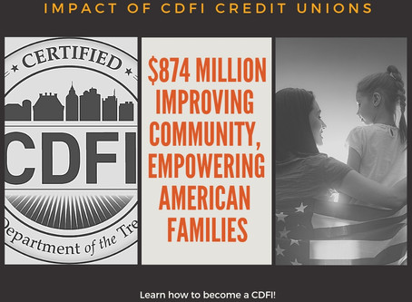 What is the impact of CDFI Certified Credit Unions? $874 Million