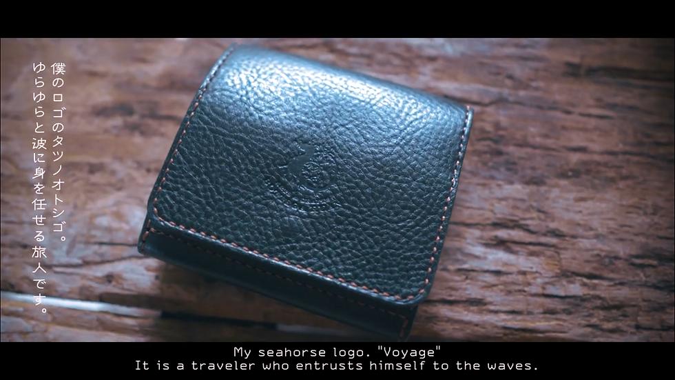受注生産**ボックスコインケースの二つ折り財布