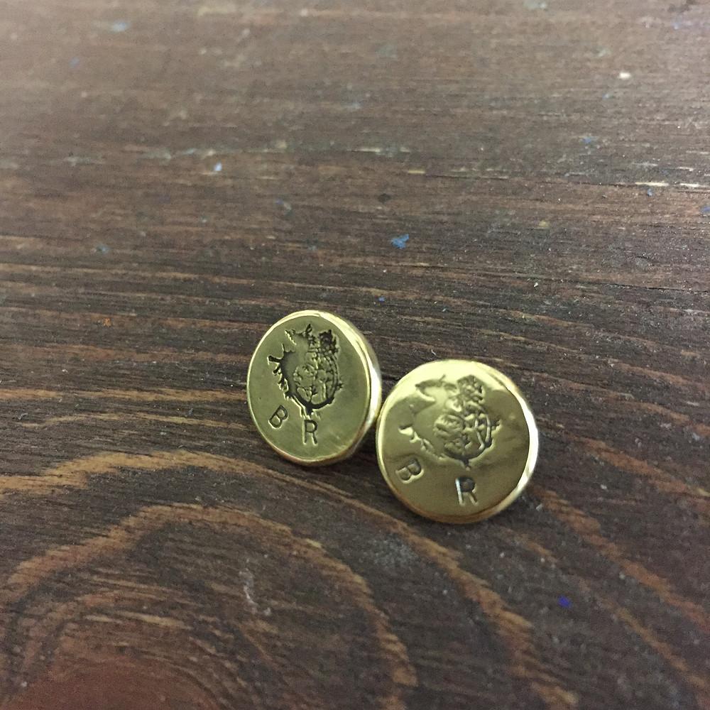 BottegaRuan オリジナル金具 タツノオトシゴ カシメ頭
