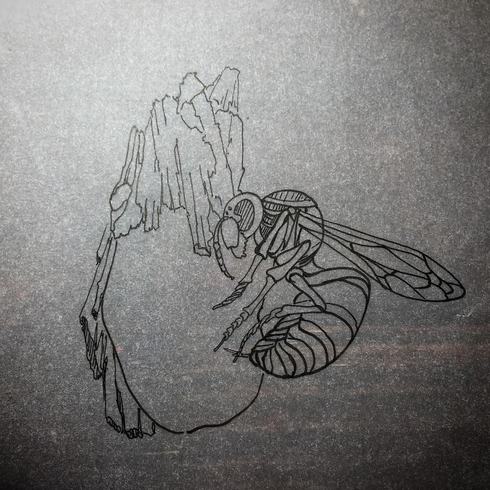 冬眠 スズメバチ デザイン画 オブジェ ボッテガルアン BottegaRuan 西村崇則 TakanoriNishimura