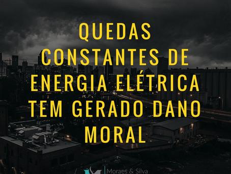 Quedas constantes de energia elétrica tem gerado dano moral