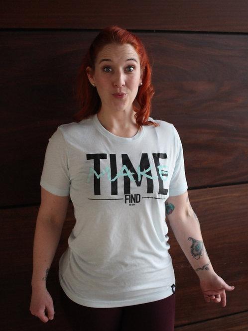 TIFF MAKE TIME ON TIFF BLUE TEE