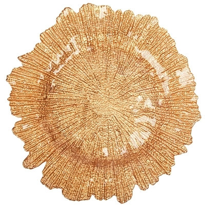 "Подставная тарелка ""Коралл"" - золото"