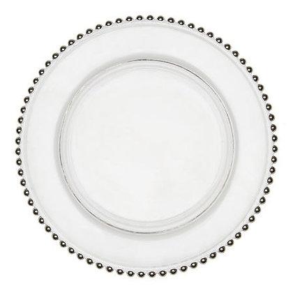 "Подставная тарелка ""Жемчуг"" - серебро"