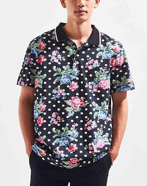 UO Pique Floral Polo Shirt