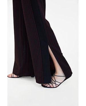 ZARA Pinstriped Trousers with Contrasting Side Stripes