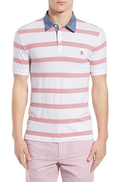 Original Penguin Bold Stripe Slim Fit Polo Shirt