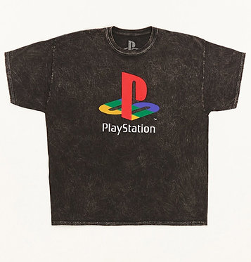 FOREVER21 Mineral Wash PlayStation Graphic Unisex Tee