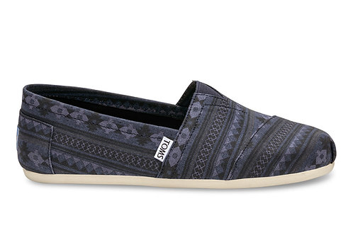TOMS Men's Navy Blanket Stripe Print Classics