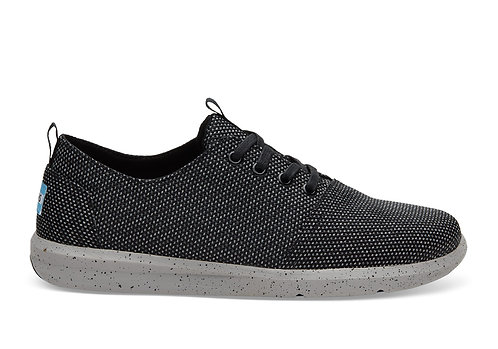 TOMS Men's Black Grey Yarn-Dye Del Rey Sneakers