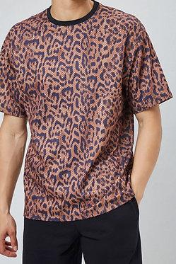 FOREVER21 Men's Jaguar Print Jersey Mesh Tee