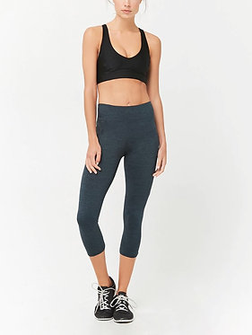 FOREVER21 Active Marled Crisscross Capri Leggings